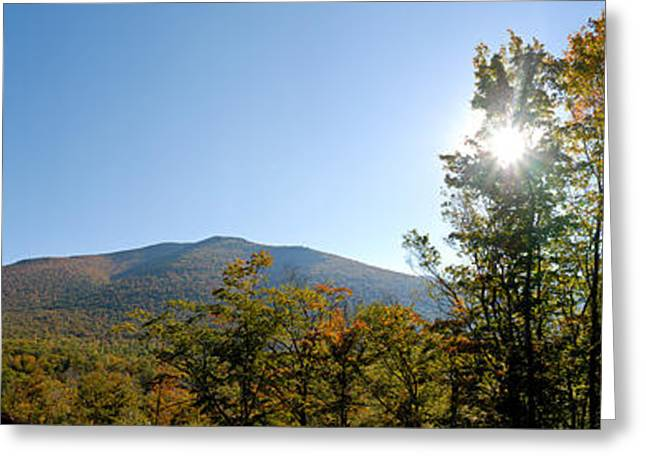 Conway Scenic Railroad  - Longtrack View Greeting Card by Geoffrey Bolte