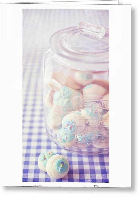 Table-cloth Greeting Cards - Cookie Jar Greeting Card by Priska Wettstein