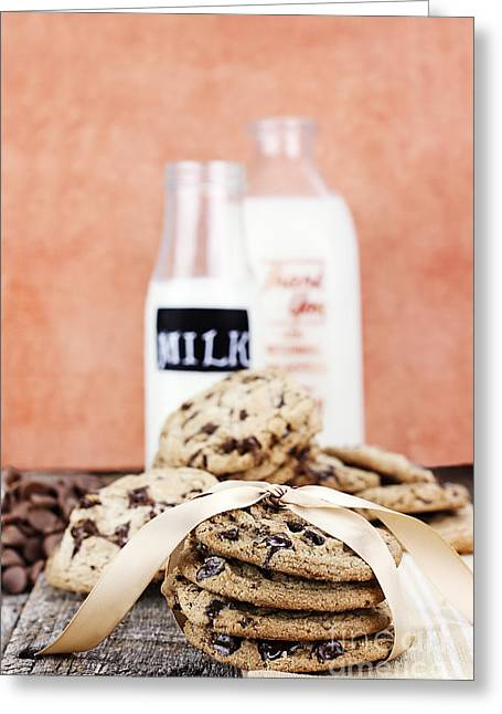Milk And Cookies Greeting Cards - Cookies and Cream Greeting Card by Stephanie Frey