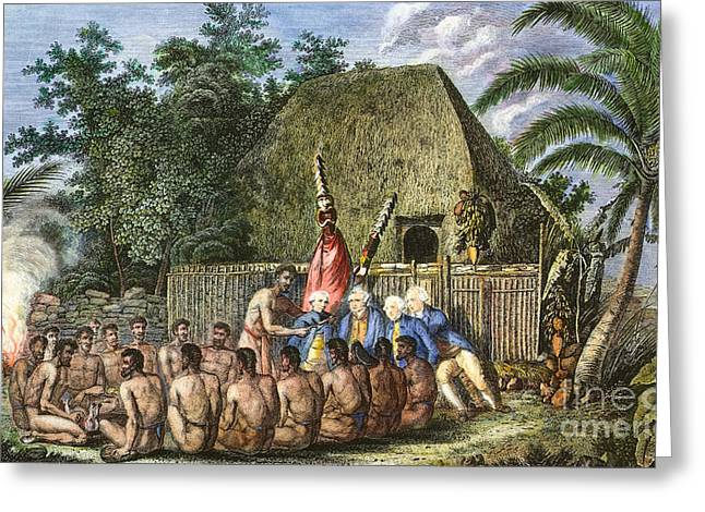 1779 Greeting Cards - Cook:sandwich Islands 1779 Greeting Card by Granger
