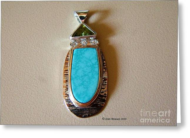 Water Jewelry Greeting Cards - Cool Blue Waters Greeting Card by Stan Mowatt