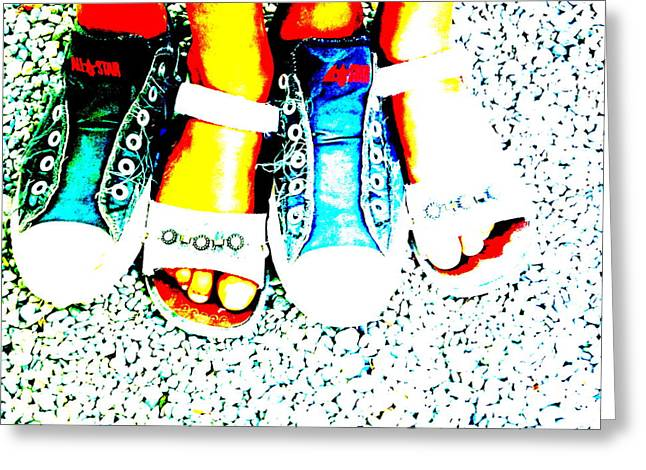 Conversing Digital Art Greeting Cards - Cool feet Greeting Card by Funkpix Photo Hunter