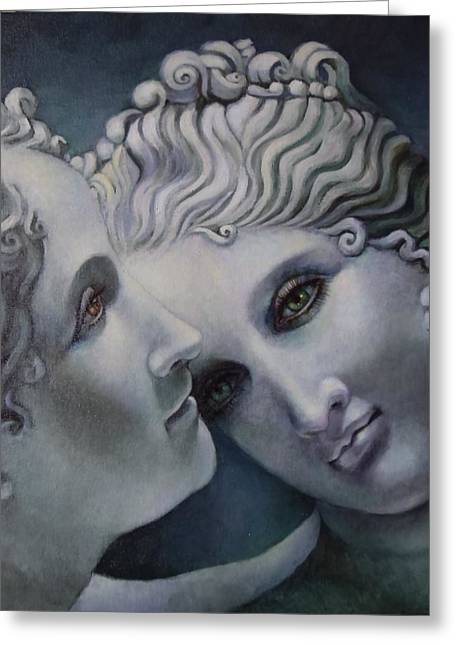 Greek Sculpture Paintings Greeting Cards - Cool Muses  Greeting Card by Geraldine Arata