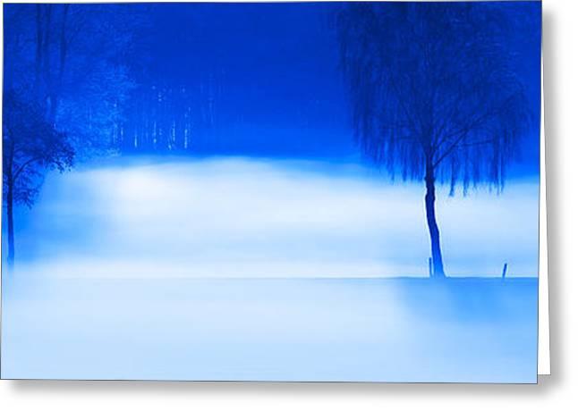 Blau Greeting Cards - Cool running Greeting Card by Thomas Splietker
