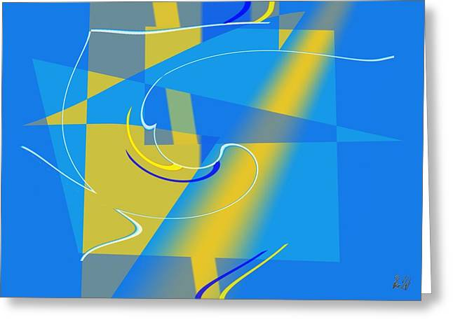 Azur Digital Greeting Cards - Coolbluelines Greeting Card by Helmut Rottler