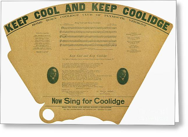 Texting Greeting Cards - Coolidge: Campaign, 1924 Greeting Card by Granger