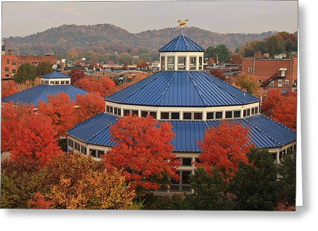 Coolidge Park Greeting Cards - Coolidge Park Carousel Greeting Card by Tom and Pat Cory