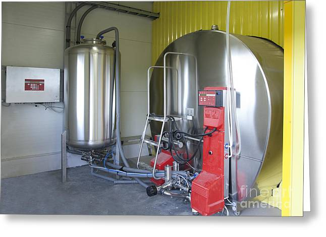 Cooling Tank for Milk Greeting Card by Jaak Nilson