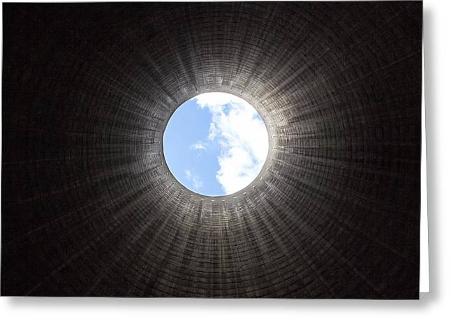 24th Greeting Cards - Cooling Tower Interior Greeting Card by Mark Sykes