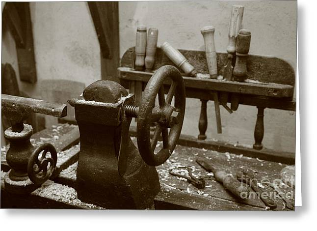 Cooperage Greeting Cards - Cooperage tools Greeting Card by Gaspar Avila