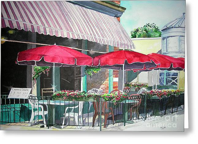 Fort Collins Greeting Cards - Coopersmiths Pub Greeting Card by Tom Riggs