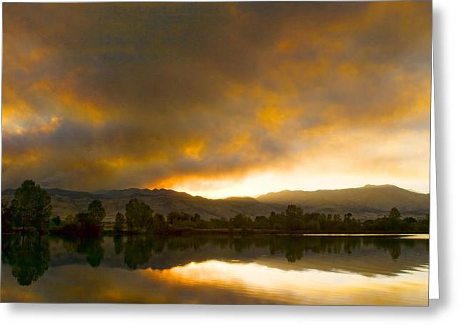 Striking Images Greeting Cards - Coot  Lake Sunset Boulder County Colorado Greeting Card by James BO  Insogna