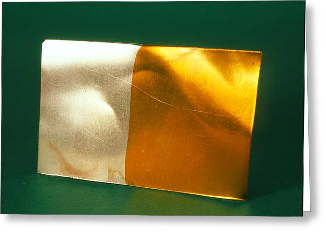 Metal Sheet Greeting Cards - Copper Greeting Card by Andrew Lambert Photography