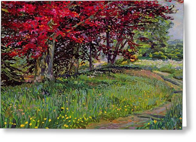 Buttercups Greeting Cards - Copper Beeches New Timber Sussex Greeting Card by Robert Tyndall