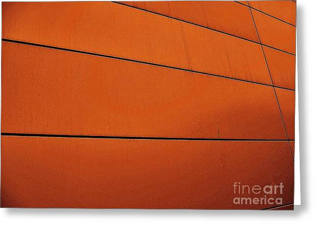Geometric Digital Art Greeting Cards - Copper Edge Greeting Card by Marsha Heiken