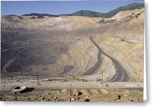 Us Open Photographs Greeting Cards - Copper Mine Greeting Card by Alan Sirulnikoff