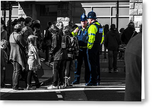 Camborne Greeting Cards - Coppers Greeting Card by Paul Howarth