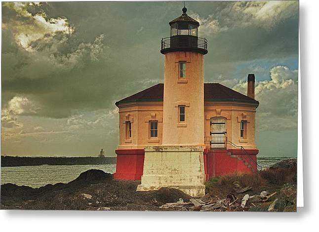 Light House Greeting Cards - Coquille River Light House Greeting Card by Alvin Kroon