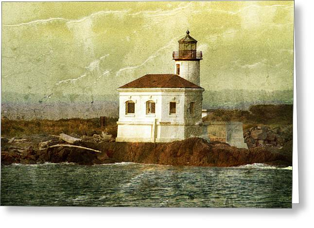 Coquille River Lighthouse Greeting Card by Jill Battaglia