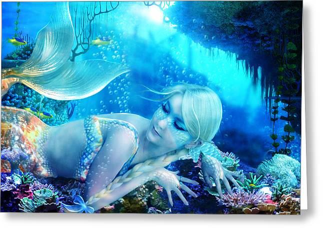 Reef Fish Digital Art Greeting Cards - Coral Dreams Greeting Card by Karen H