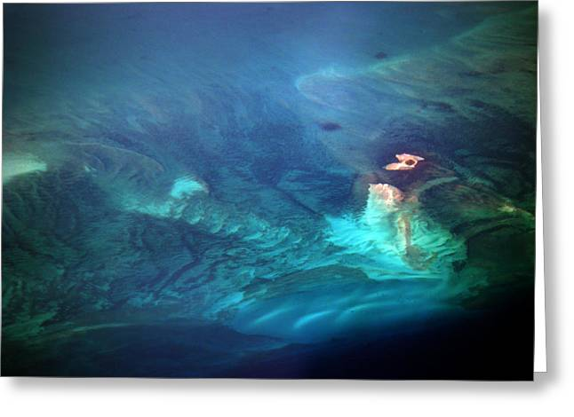 Reef Photos Greeting Cards - Coral Reef from 28000 feet Greeting Card by Strato  ThreeSIXTY