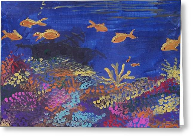 Coral Reef Garden Greeting Card by Renate Pampel