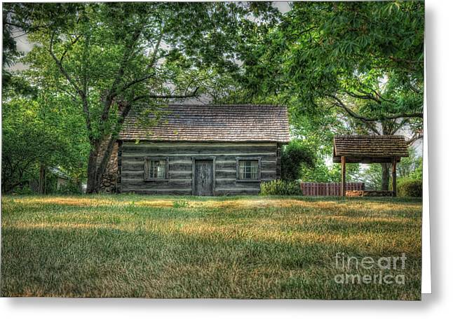 Log Cabins Greeting Cards - Corbetts Cabin Greeting Card by Pamela Baker