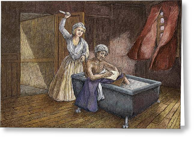 Corday And Marat Greeting Card by Steve Breslow