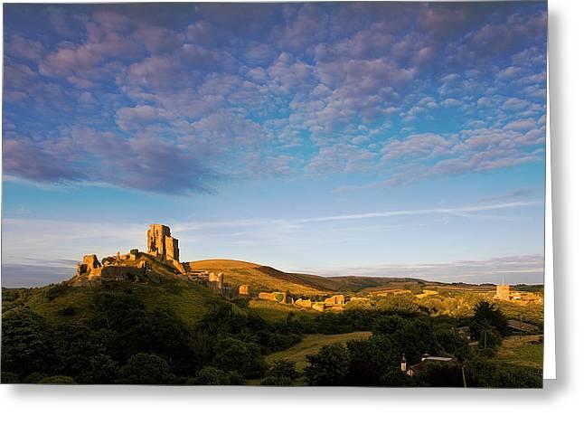 Kris Dutson Greeting Cards - Corfe Castle Greeting Card by Kris Dutson