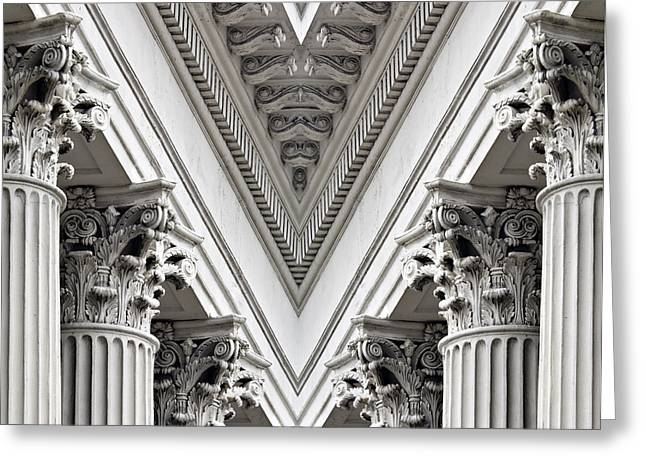 Greek Friezes Greeting Cards - Corinthian Columns - D005242 Greeting Card by Daniel Dempster