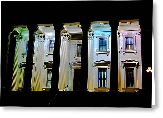 Rainbow Light Greeting Cards - Corinthian Rainbow Greeting Card by DigiArt Diaries by Vicky B Fuller