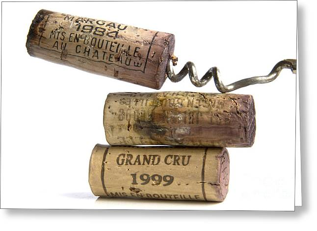 Grand Cru Greeting Cards - Cork of french wine Greeting Card by Bernard Jaubert