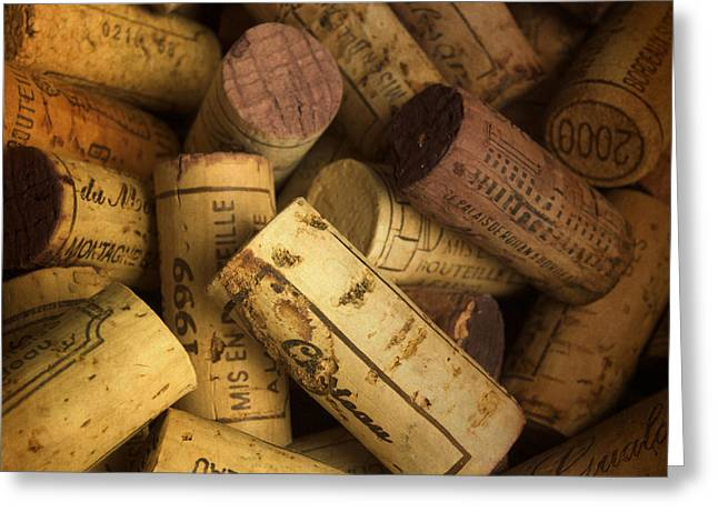 Captions Greeting Cards - Corks Greeting Card by Bernard Jaubert
