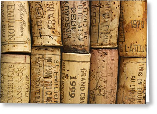 Corks of fench vine of Bordeaux Greeting Card by BERNARD JAUBERT