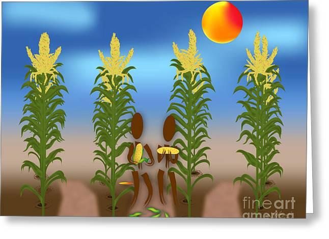Linda Seacord Greeting Cards - Corn Greeting Card by Linda Seacord