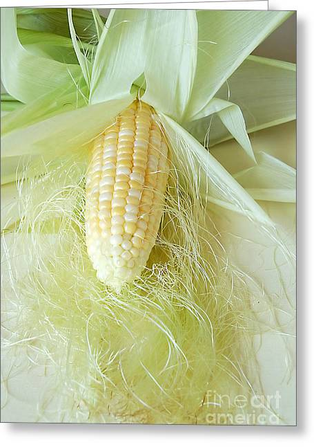Husks Greeting Cards - Corn On The Cob Greeting Card by HD Connelly