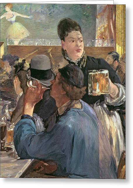 Beer Paintings Greeting Cards - Corner of a Cafe-Concert Greeting Card by Edouard Manet