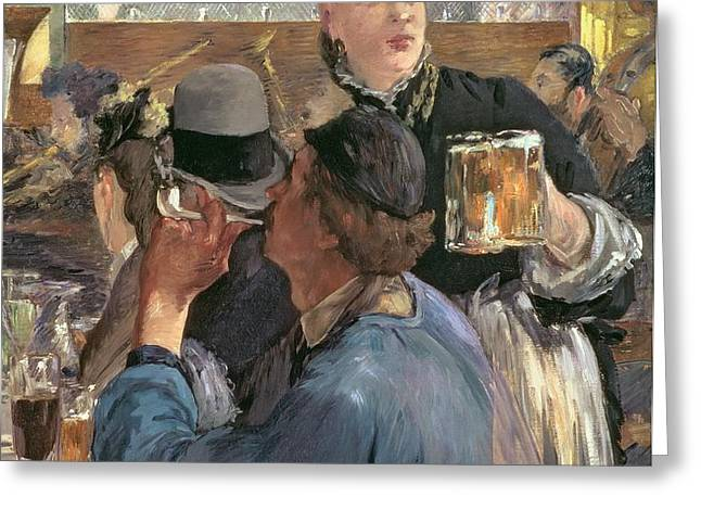 Corner of a Cafe-Concert Greeting Card by Edouard Manet