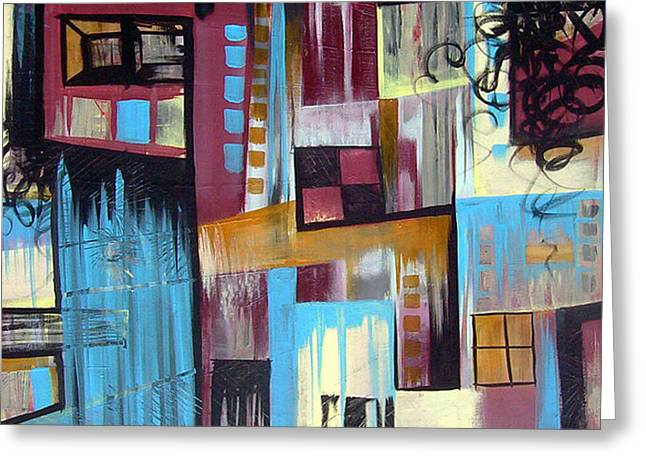 Lounge Paintings Greeting Cards - Corner Store Greeting Card by Joshua Oliveira