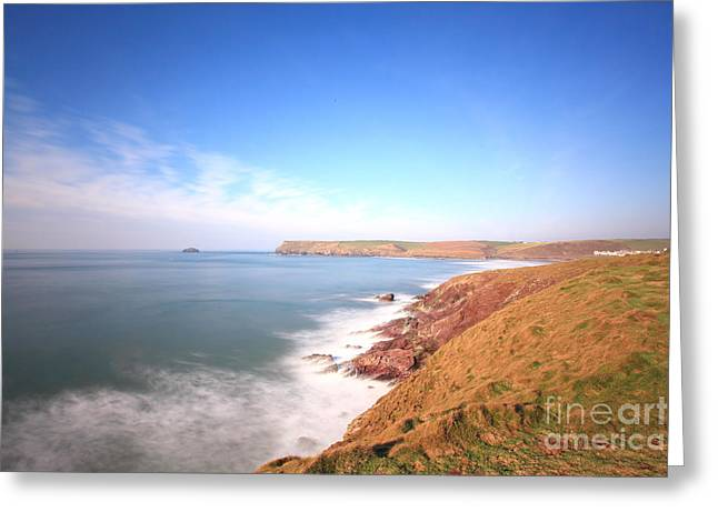 England Greeting Cards - Cornish Coast Greeting Card by Carl Whitfield
