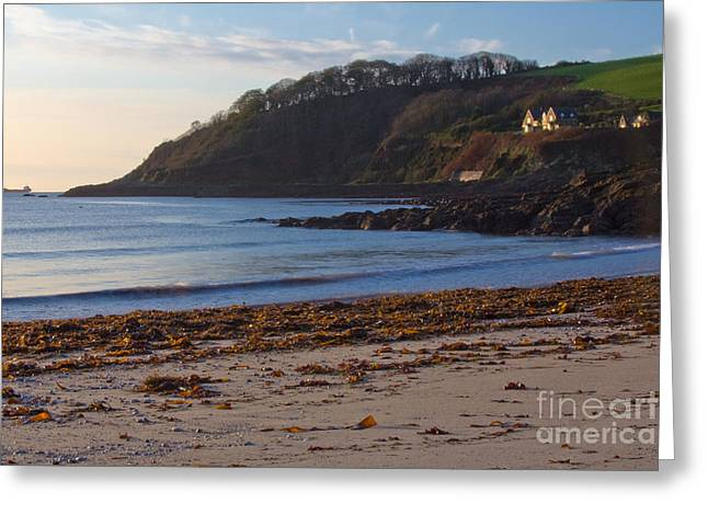 Cornwall Greeting Cards - Cornish Seascape Meanporth Greeting Card by Brian Roscorla