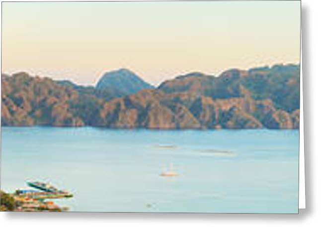 Amazing Sunset Greeting Cards - Coron panorama Greeting Card by MotHaiBaPhoto Prints