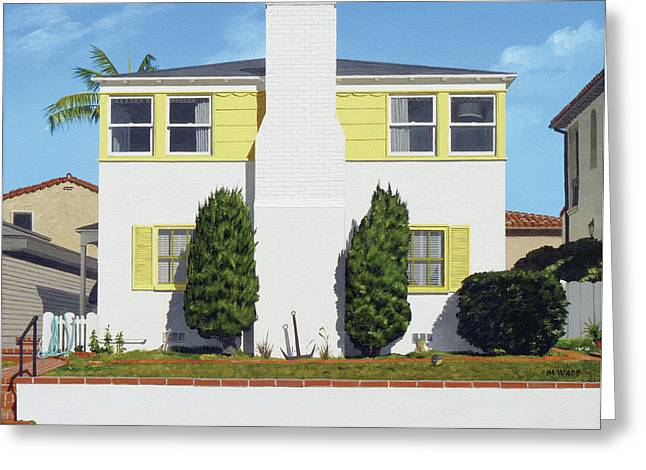 Photorealism Greeting Cards - Corona del Mar house Greeting Card by Michael Ward