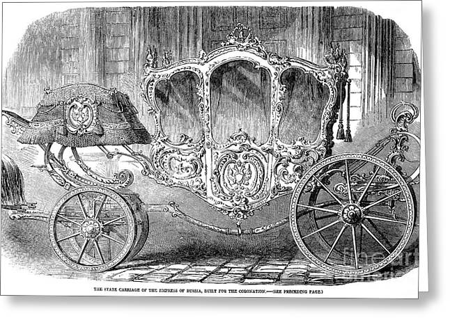 Romanov Greeting Cards - Coronation Carriage, 1855 Greeting Card by Granger