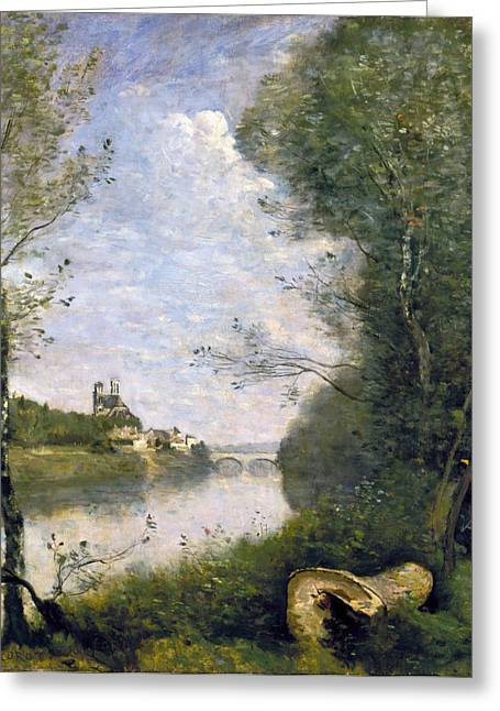 1850s Greeting Cards - COROT: CATHEDRAL, c1855-60 Greeting Card by Granger