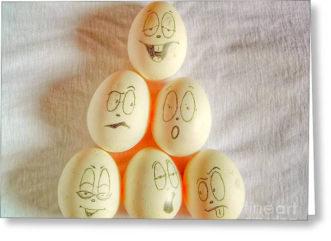 Eggheads Greeting Cards - Corporate hierarchy Greeting Card by Sel Vin