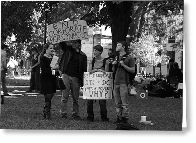 Occupy Greeting Cards - Corporate Personhood Greeting Card by Sonya Anthony