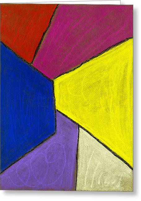 Expressionist Pastels Greeting Cards - Corridor Greeting Card by Hakon Soreide