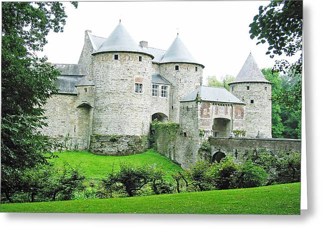 Moat Mountain Greeting Cards - Corroy le Chateau Gembloux Belgium Greeting Card by Joseph Hendrix