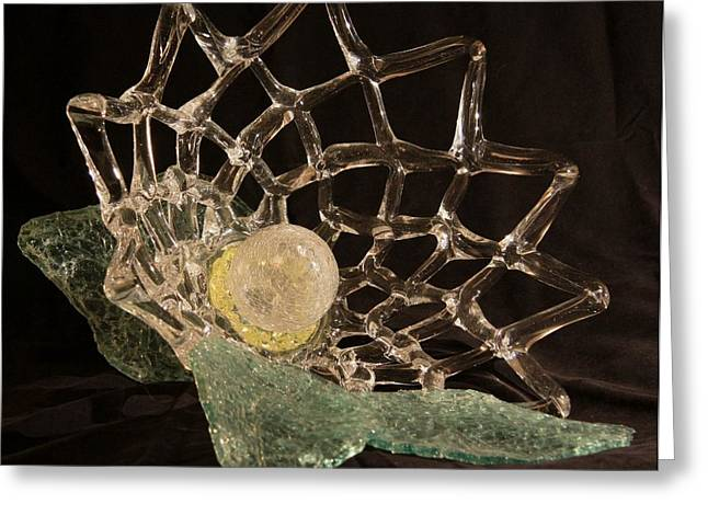 Glass Sculpture Glass Art Greeting Cards - Corsage Greeting Card by Ellery Russell